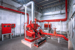 Diesel Engine Fire Pump Controller Systems In Industrial Plants.